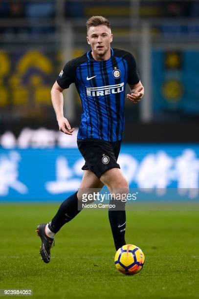 Milan Skriniar of FC Internazionale in action during the Serie A football match between FC Internazionale and Benevento Calcio FC Internazionale won...