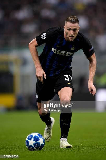 Milan Skriniar of FC Internazionale in action during the UEFA Champions League football match between FC Internazionale and Tottenham Hotspur FC...