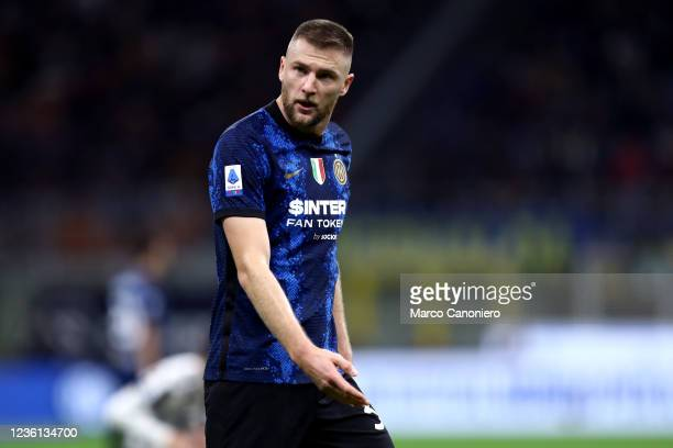 Milan Skriniar of Fc Internazionale looks on during the Serie A match between Fc Internazionale and Juventus Fc. The match ends in a tie 1-1.