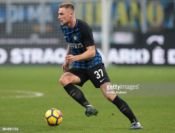 Milan Skriniar of FC Internazionale Milano in action during the Serie A match between FC Internazionale and AC Chievo Verona at Stadio Giuseppe...