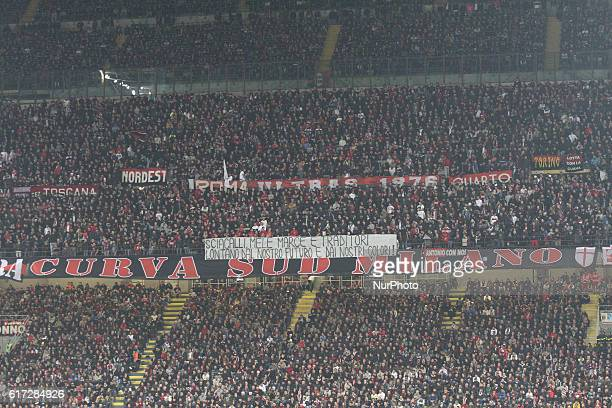 Milan Supporters during the Serie A football match n9 MILAN JUVENTUS on at the Stadio Giuseppe Meazza in Milan Italy
