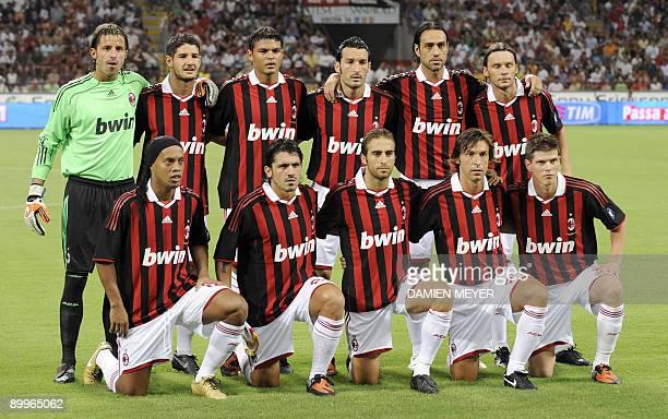 AC Milan team players goalkeeper Marco Storari Brazilian forward Pato Brazilian defender Thiago Silva Italian defender Gianluca Zambrotta Italian...
