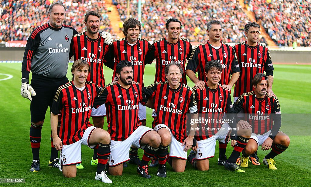 AC Milan team pose for a team photo during the Perspolis ...