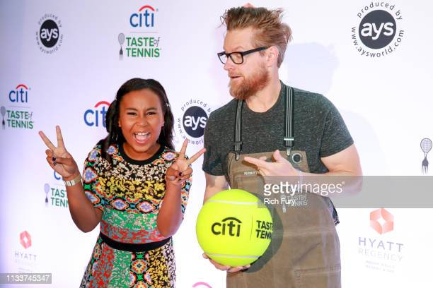 Milan Tyson and Richard Blais attend the Citi Taste Of Tennis Indian Wells on March 04 2019 in Indian Wells California