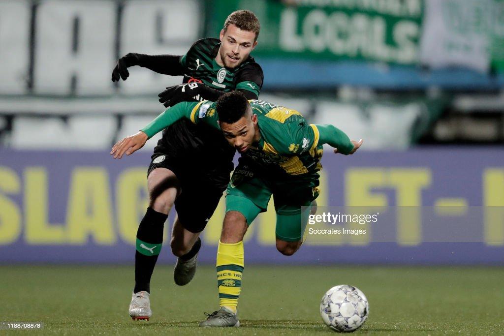 Milan Van Ewijk Of Ado Den Haag Gabriel Gudmundsson Of Fc Groningen News Photo Getty Images