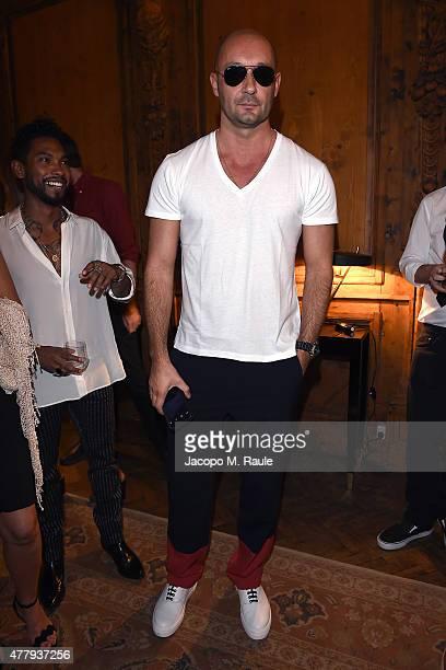 Milan Vukmirovic attends GQ Party for Jim Moore during Milan Menswear Fashion Week Spring/Summer 2016 at Casa Degli Atellani on June 20 2015 in Milan...