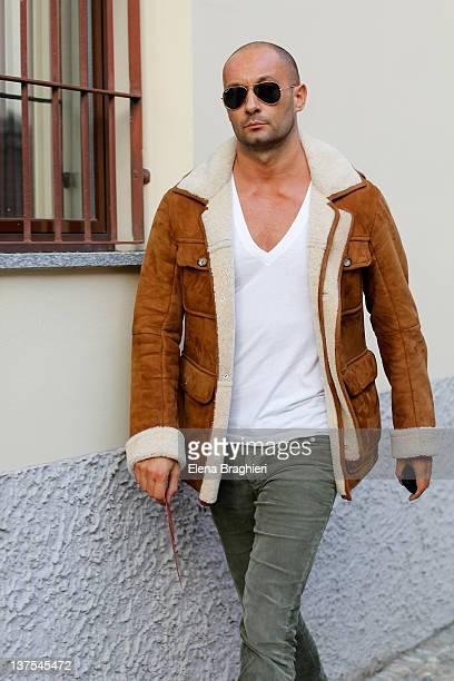 Milan Vukmirovic attends Missoni fashion show on January 15 2012 in Milan Italy