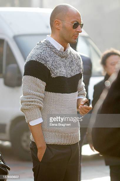 Milan Vukmirovic attends the Gucci fashion show on January 16 2012 in Milan Italy