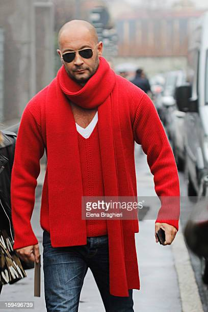Milan Vukmirovic during Milan Fashion Week Menswear Autumn/Winter 2013 on January 13 2013 in Milan Italy