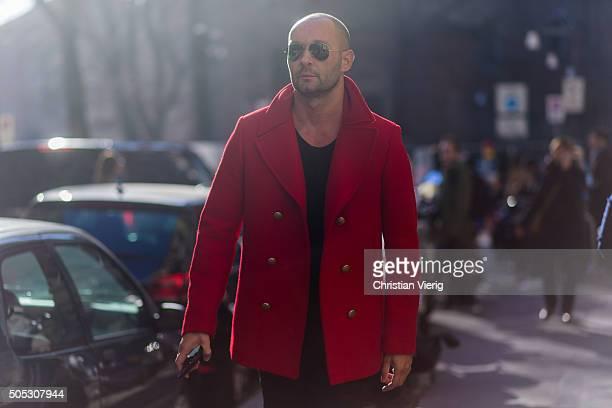 Milan Vukmirovic during Milan Men's Fashion Week Fall/Winter 2016/17 on January 16 in Milam Italy