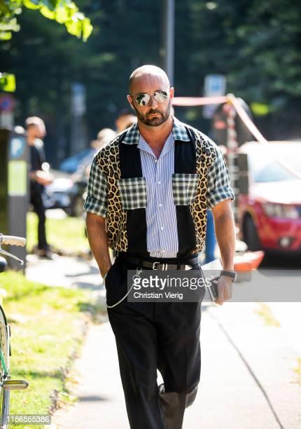 Milan Vukmirovic is seen outside Fendi during the Milan Men's Fashion Week Spring/Summer 2020 on June 17 2019 in Milan Italy