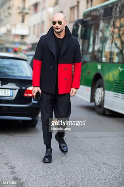 Milan Vukmirovic of Ports 1961 during Milan Men's Fashion Week Fall/Winter 2017/18 on January 14 2017 in Milan Italy