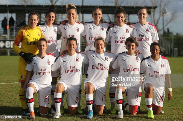 Milan Women poses during the Women Serie A match between Florentia and AC Milan on November 30 2019 in Florence Italy
