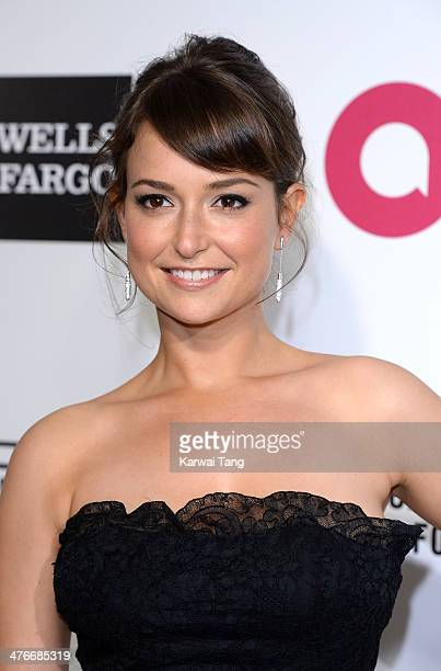 Milana Vayntrub arrives for the 22nd Annual Elton John AIDS Foundation's Oscar Viewing Party held at West Hollywood Park on March 2 2014 in West...