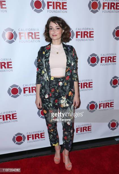 Milana Vayntrub attends California Fire Foundation's 6th Annual Gala at Avalon on March 20 2019 in Los Angeles California