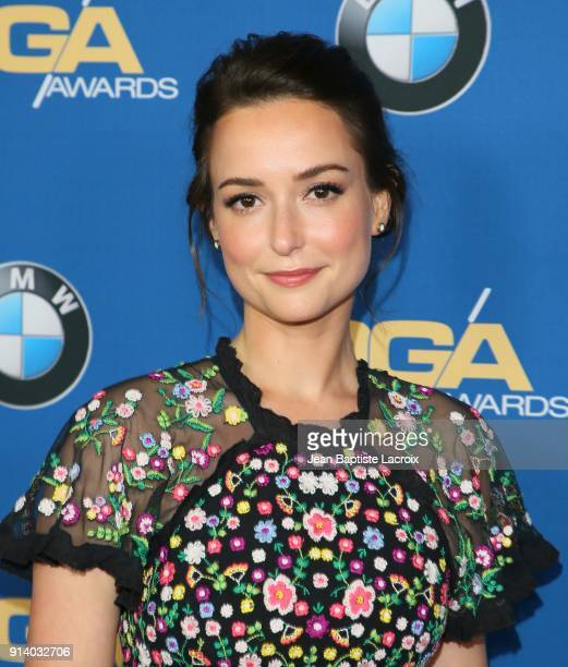 Milana Vayntrub attends the 70th Annual Directors Guild Of America Awards at The Beverly Hilton Hotel on February 3 2018 in Beverly Hills California