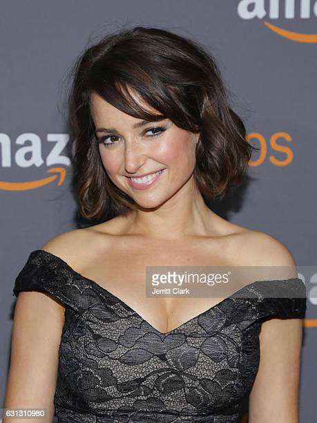Milana Vayntrub attends the Amazon Studios Golden Globes Party at The Beverly Hilton Hotel on January 8 2017 in Beverly Hills California
