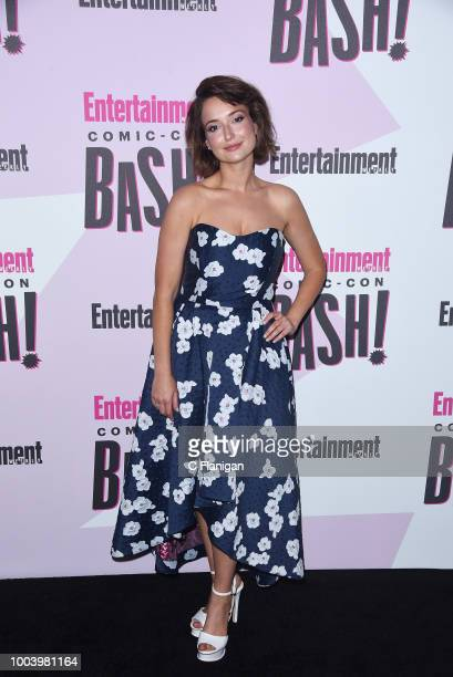 Milana Vayntrub attends the annual Entertainment Weekly ComicCon Celebration at Float at Hard Rock Hotel San Diego on July 21 2018 in San Diego...
