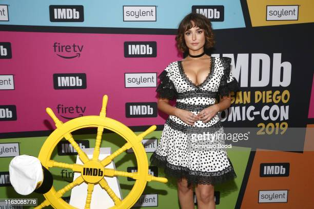 Milana Vayntrub attends the #IMDboat Party presented by Soylent and Fire TV at San Diego ComicCon 2019 at the IMDb Yacht on July 19 2019 in San Diego...