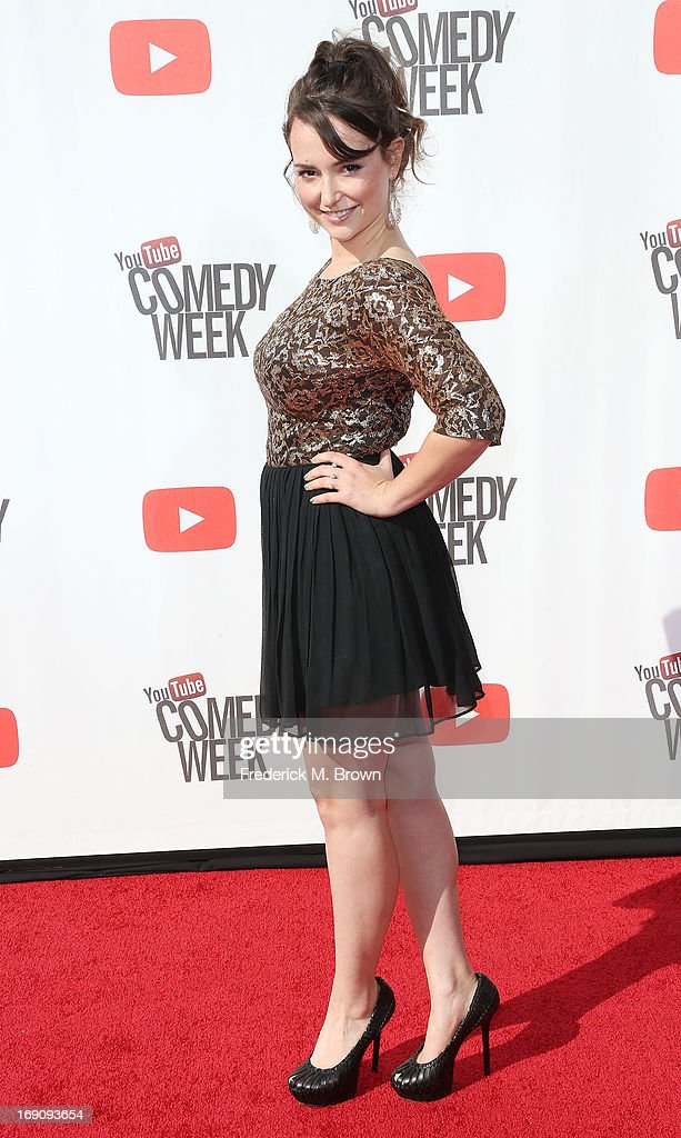 Milana Vayntrub attends YouTube Comedy Week Presents 'The Big Live Comedy Show' at Culver Studios on May 19, 2013 in Culver City, California.
