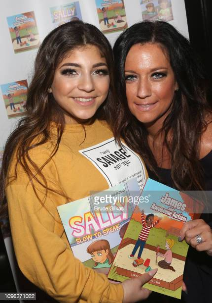 Milania Giudice and Author Carmela Florio pose at the Cosmopolitan New York Fashon Week #Eye Candy event After Party at Planet Hollywood Times Square...