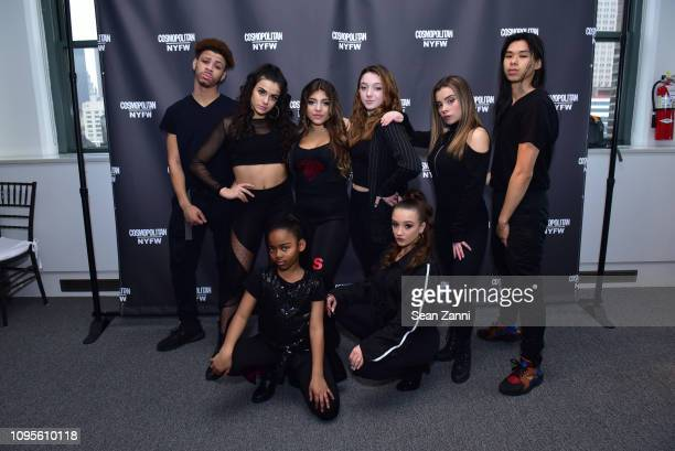 Milania Giudice and dancers attend Cosmopolitan NYFW on February 8, 2019 in New York City.