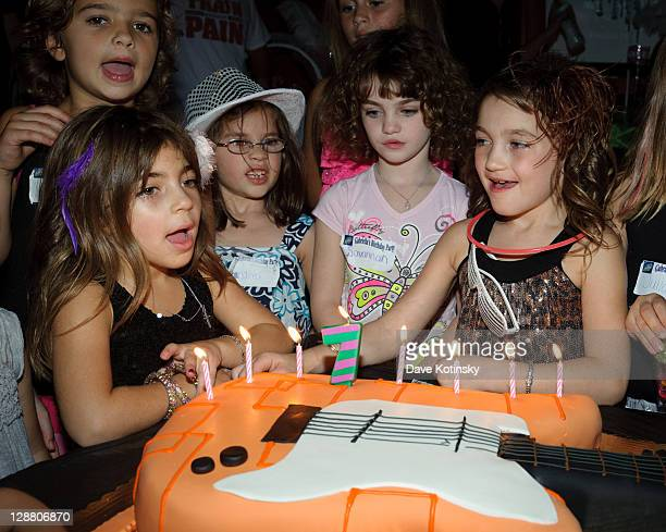 Milania Giudice and Gabriella Giudice attend Audriana and Gabriella Giudices' birthday party at Space Odyssey on October 9 2011 in Englewood New...