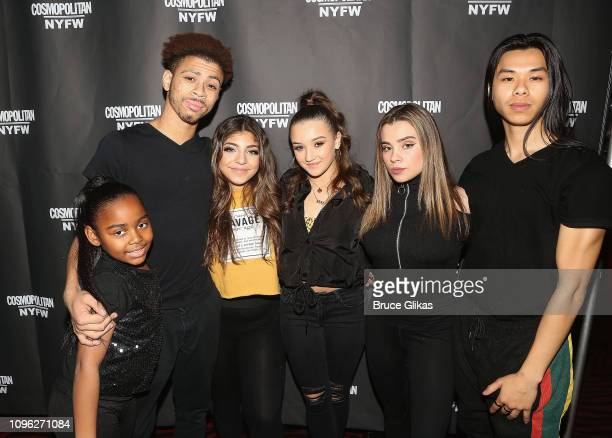 Milania Giudice and her dancers pose at the Cosmopolitan New York Fashon Week #Eye Candy event After Party at Planet Hollywood Times Square on...