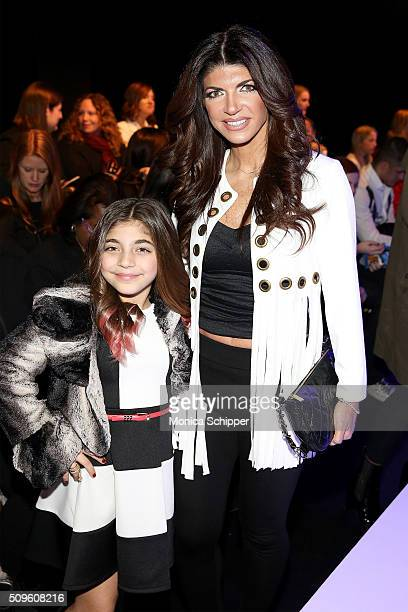 Milania Giudice and Teresa Giudice attend the Rookie USA Presents Kids Rock Fall 2016 fashion show during New York Fashion Week The Shows at The Dock...