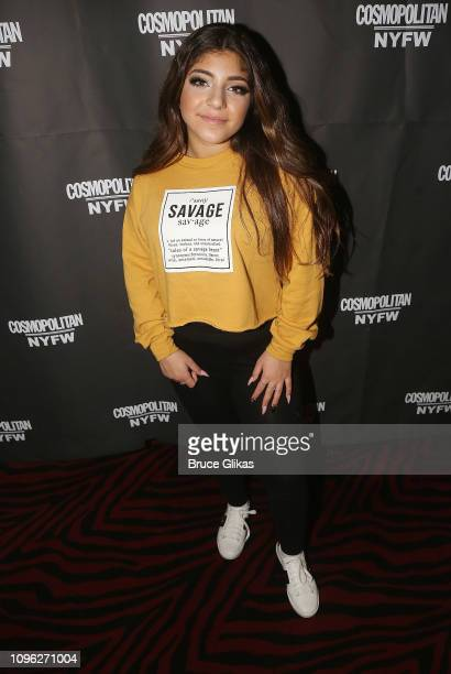 Milania Giudice poses at the Cosmopolitan New York Fashon Week #Eye Candy event After Party at Planet Hollywood Times Square on February 8, 2019 in...