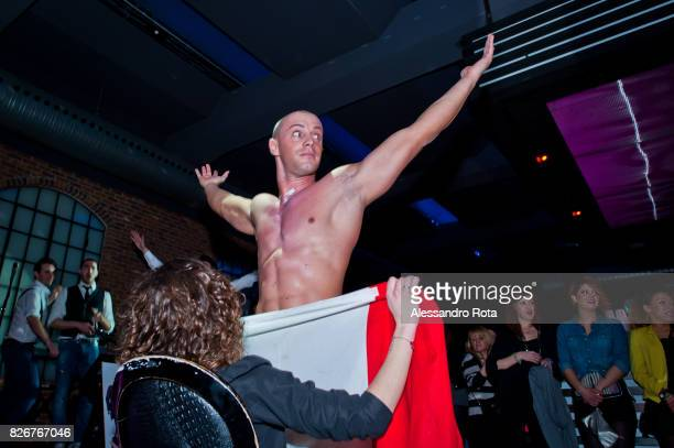 Milano 8th March 2013 Alessandro lost his job a year before due to the economic crisis Since then he became a stripper Alessandro perform his second...