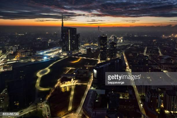 Milano at sunset
