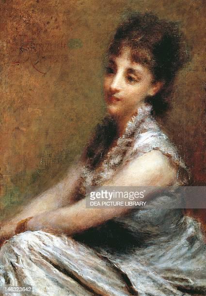 Milano, Civiche Raccolte D'Arte Museo Dell'Ottocento Villa Belgiojoso Bonaparte Portrait of Countess Arrivabene Marta Bussi Rosnati by Daniele...