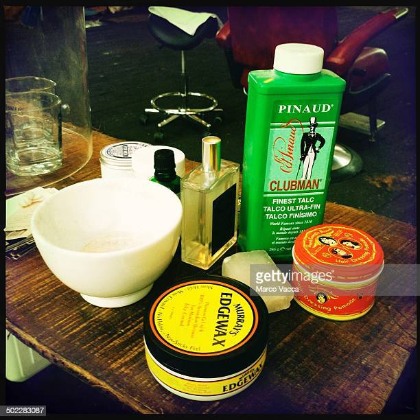 Italy cream shave shaving brush bowl soap talco powder aftershave anything a real old style barber need to undergo a proper shaving