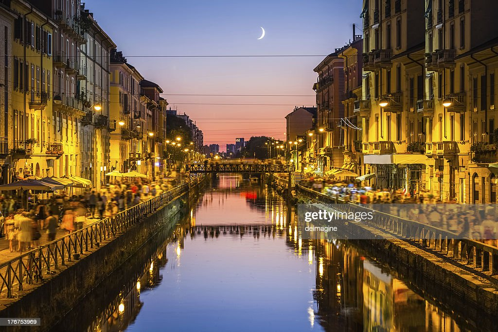 Milano, der naviglio grande : Stock-Foto