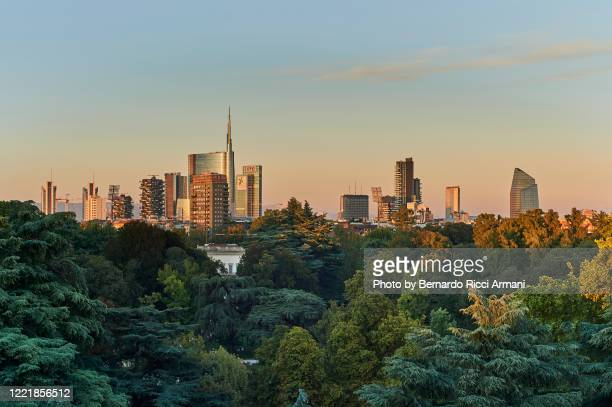 milano skyline - milan stock pictures, royalty-free photos & images