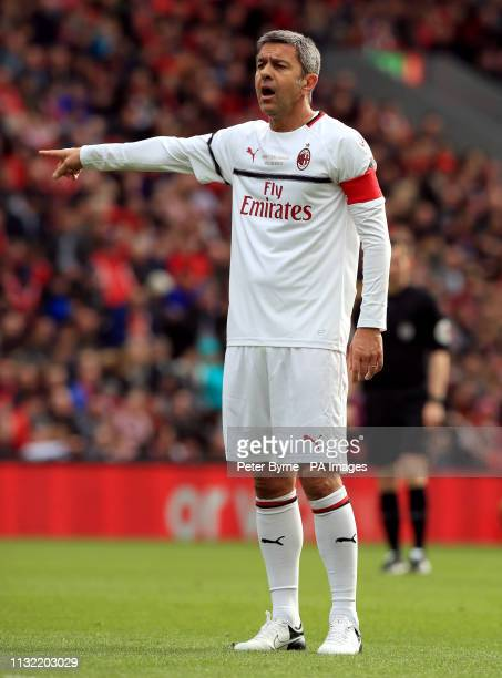 Milan's Alessandro Costacurta during the Legends match at Anfield Stadium Liverpool