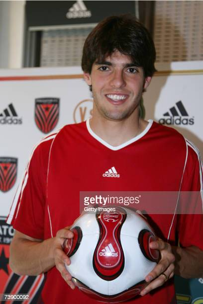 Milan's Brazilian midfielder Kaka attends the 'La Finale' event at the Adidas Milan store on April 16 2007 in Milan Itlay
