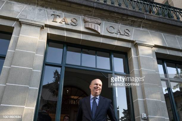 AC Milan's CEO Marco Fassone leaves the Court of Arbitration for Sport after a wholeday appeal against an European ban for breaking UEFA's financial...