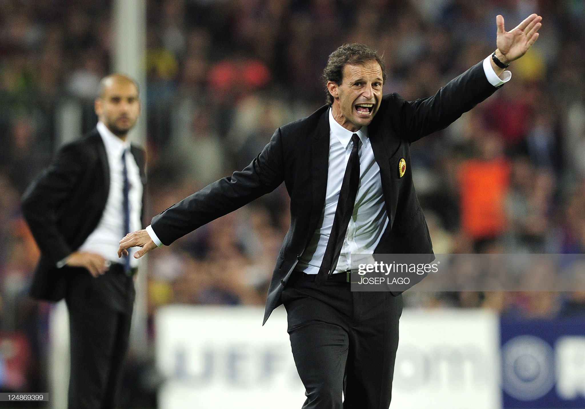 AC Milan's coach Massimilliano Allegri g : News Photo