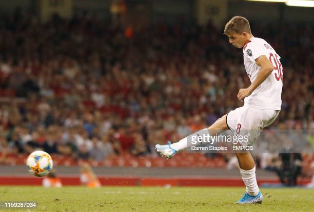 AC Milan's Daniel Maldini misses in a penalty shoot out against Manchester United Manchester United v AC Milan International Champions Cup...