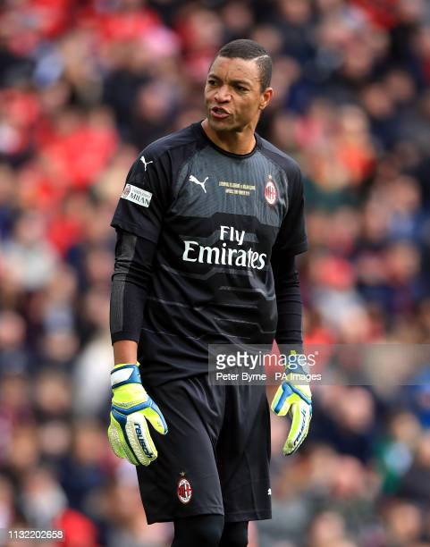 Milan's Dida during the Legends match at Anfield Stadium Liverpool