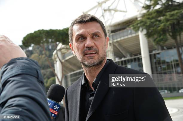 AC Milan's former player Paolo Maldini during the ceremony Walk of Fame in Rome Italy on 12 March 2018 The Walk of Fame is enriched with 5 more...