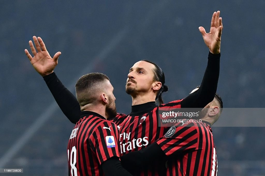 TOPSHOT-FBL-ITA-SERIEA-INTER-AC-MILAN : News Photo
