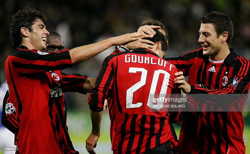Ac Milan S French Midfielder Yoann Gourcuff Celebrates With His News Photo Getty Images