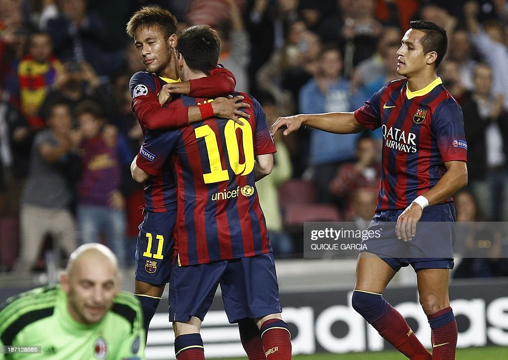 FBL-EUR-C1-BARCELONA-MILAN : News Photo