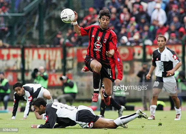 Milan's Manuel Rui Costa in action during the Serie A match between Siena and Milan at Comunale Artemio Franchi April 17 2005 in Siena Italy