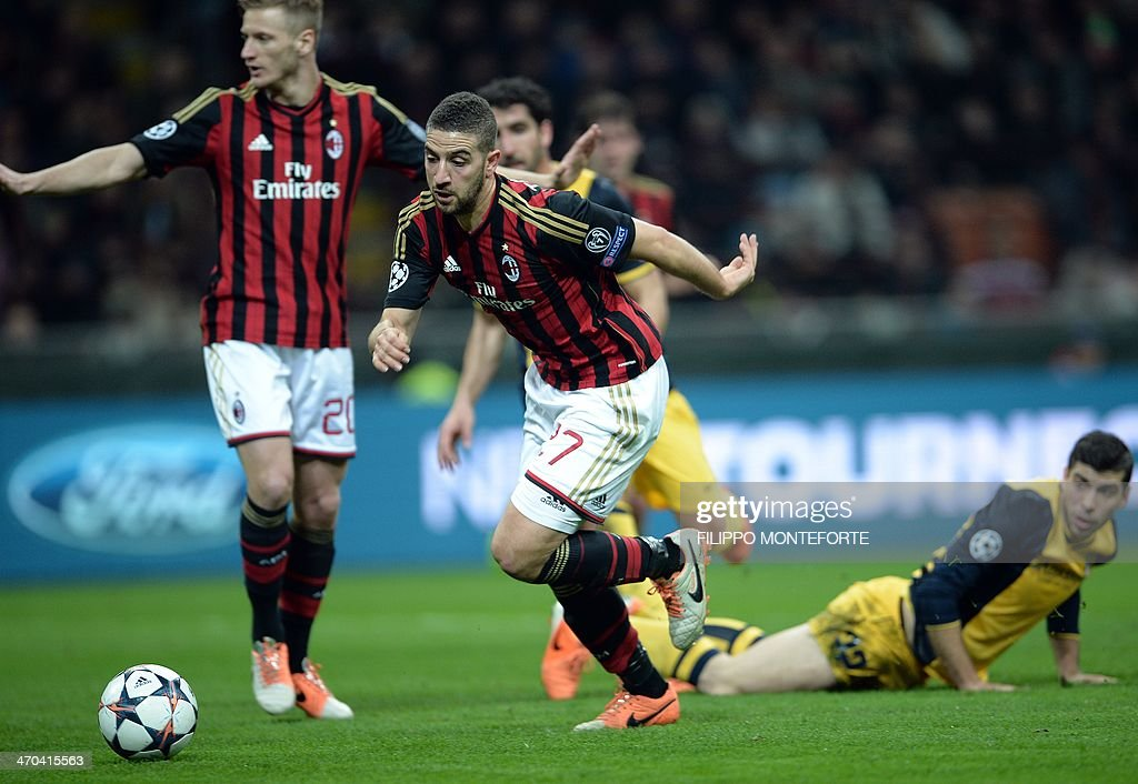FBL-EUR-C1-AC MILAN-ATLETICO MADRID : News Photo