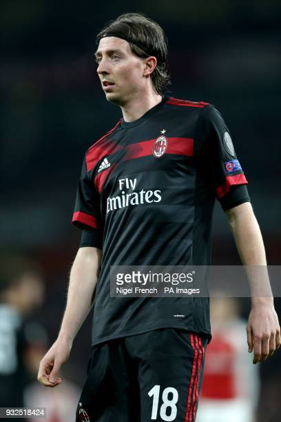 AC Milan's Riccardo Montolivo during the UEFA Europa League round of 16 second leg match at the Emirates Stadium London PRESS ASSOCIATION Photo...