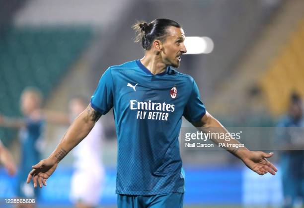 Milan's Zlatan Ibrahimovic during the UEFA Europa League, Second Qualifying Round match at Tallaght Stadium, Tallaght.
